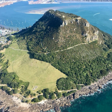 Mt Maunganui from a Helicopter